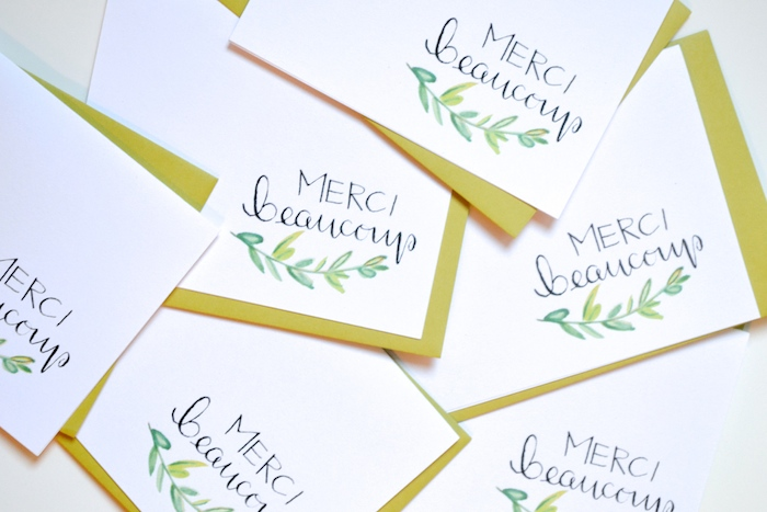 Merci Beaucoup cards by The Lovely Bee // www.thehiveblog.com