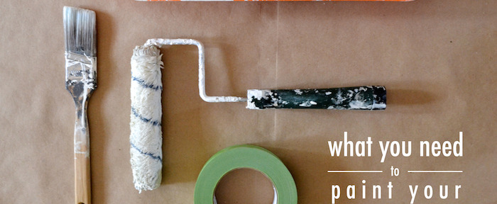 Quick tutorial on how to paint your exposed brick // www.thehiveblog.com