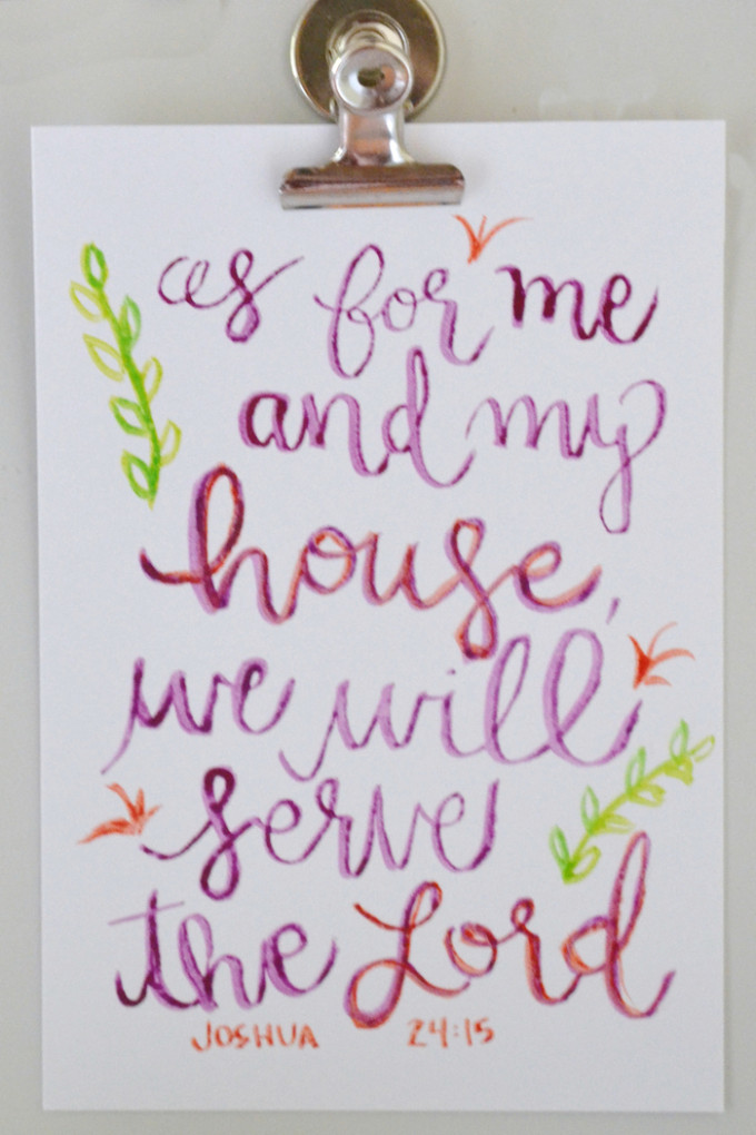 As for me and my house, we will serve the Lord! // www.thehiveblog.com