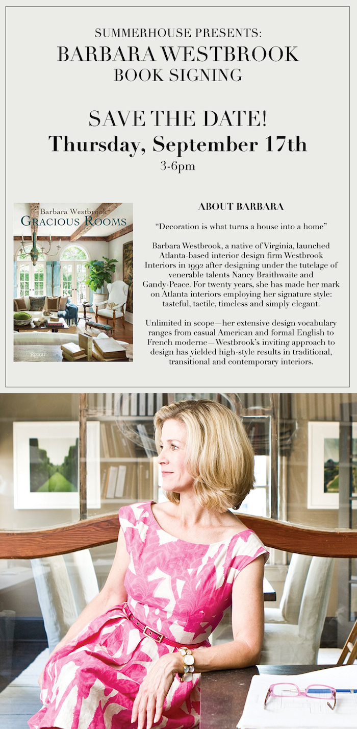Barbara Westbrook coming to SummerHouse // www.thehiveblog.com