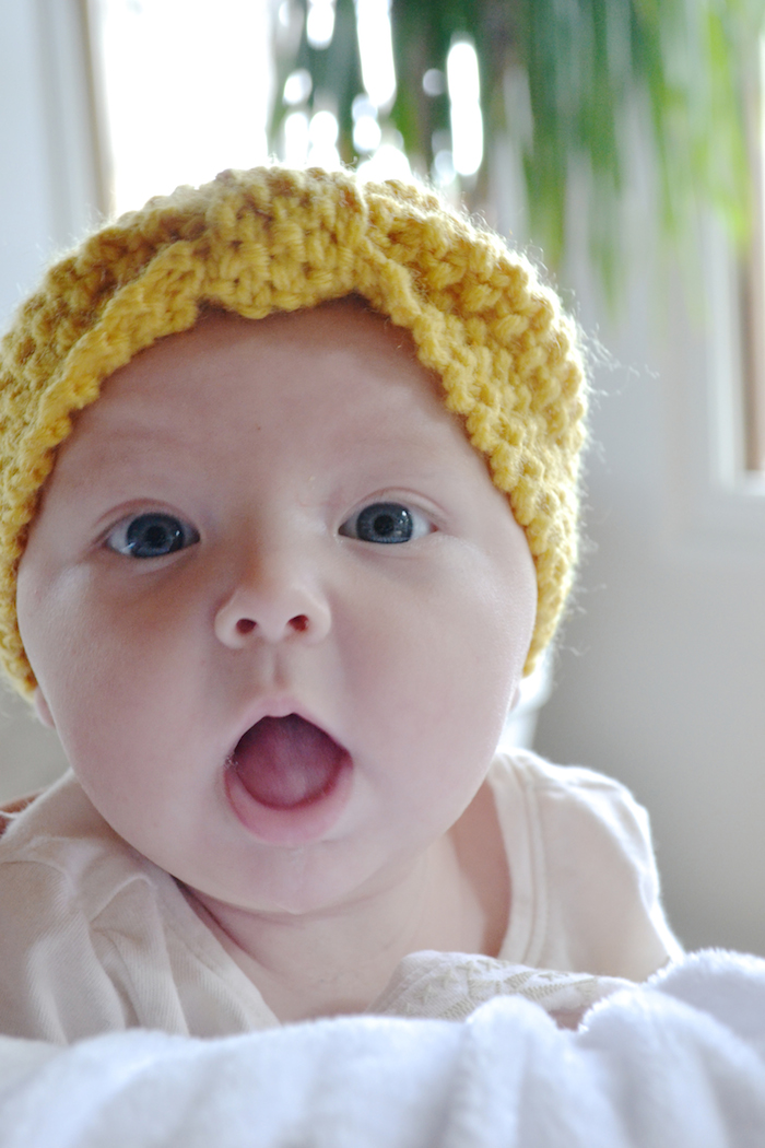 Simple, different, comfortable headbands for baby girls // www.thehiveblog.com