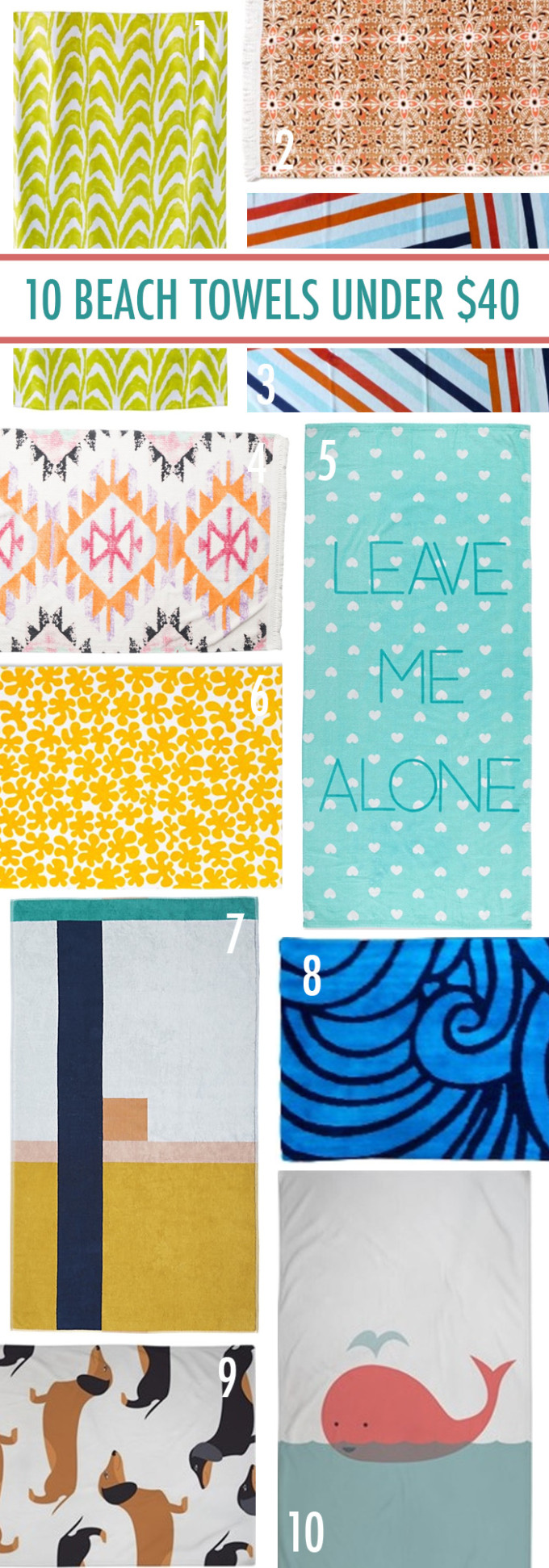 10 beach towels under $40 // www.thehiveblog.com