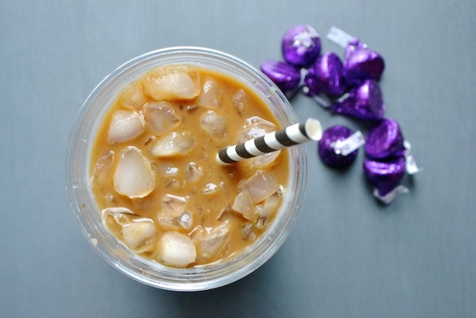 Skinny Iced Mocha- only 24 calories! // www.thehiveblog.com