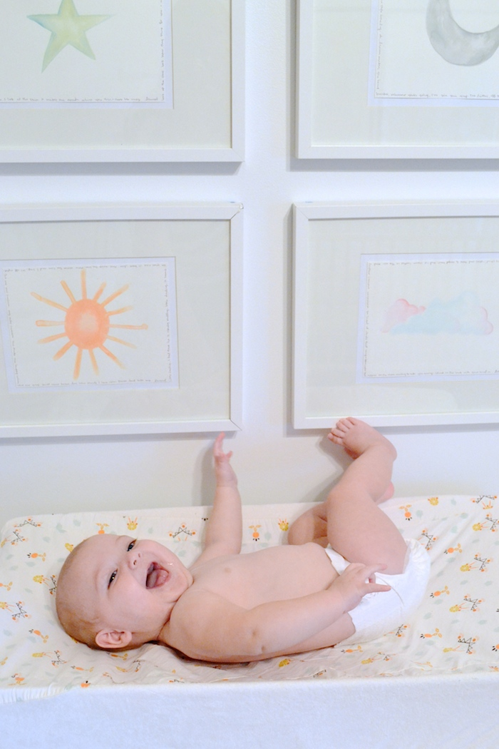 How to make art over the changing table safe! // www.thehiveblog.com