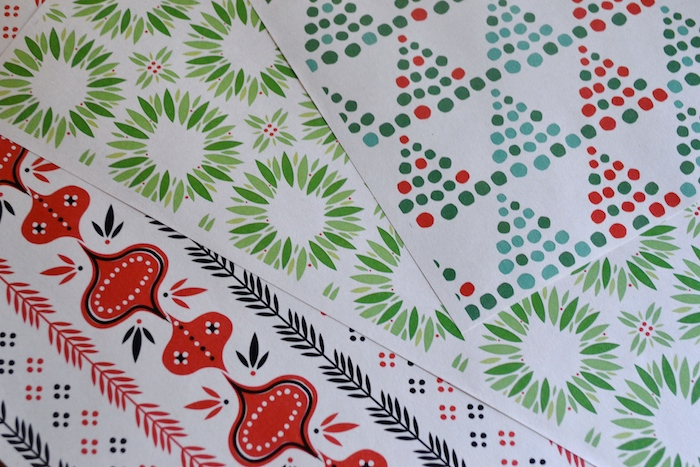 Midcentury modern wrapping paper