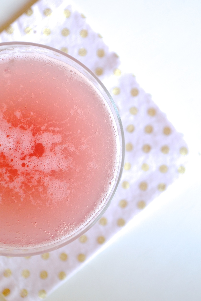 Cupid's Cocktail // St. Germain + pomegranate juice + bubbly