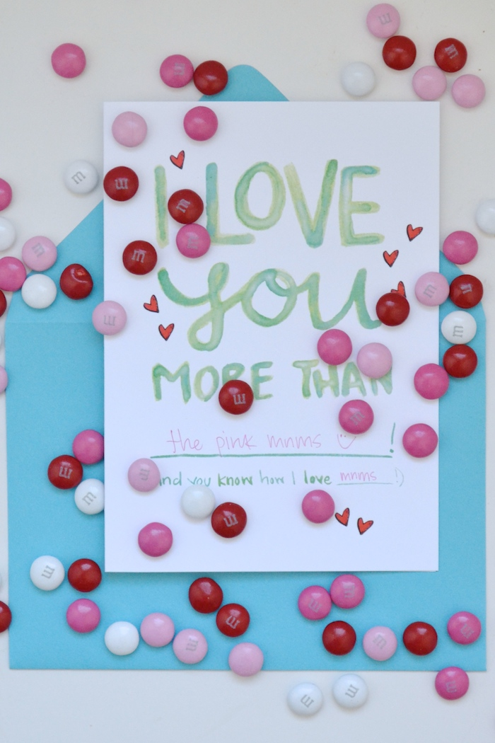 I Love You More Than... Fill in the blank! // hand painted by The Lovely Bee