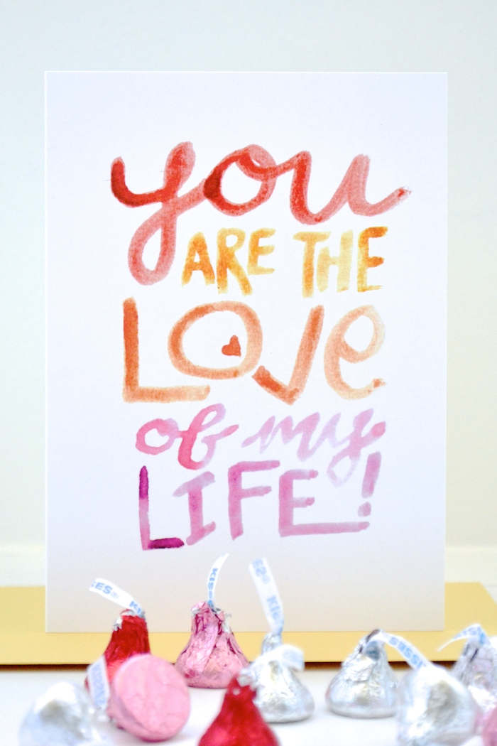 You Are the Love of My Life! // hand painted by The Lovely Bee!