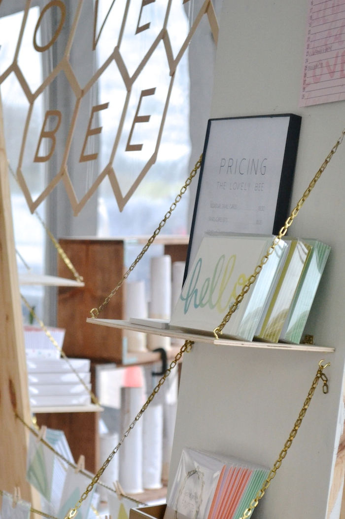 The Lovely Bee Paper Co. booth at Lee Loves Local