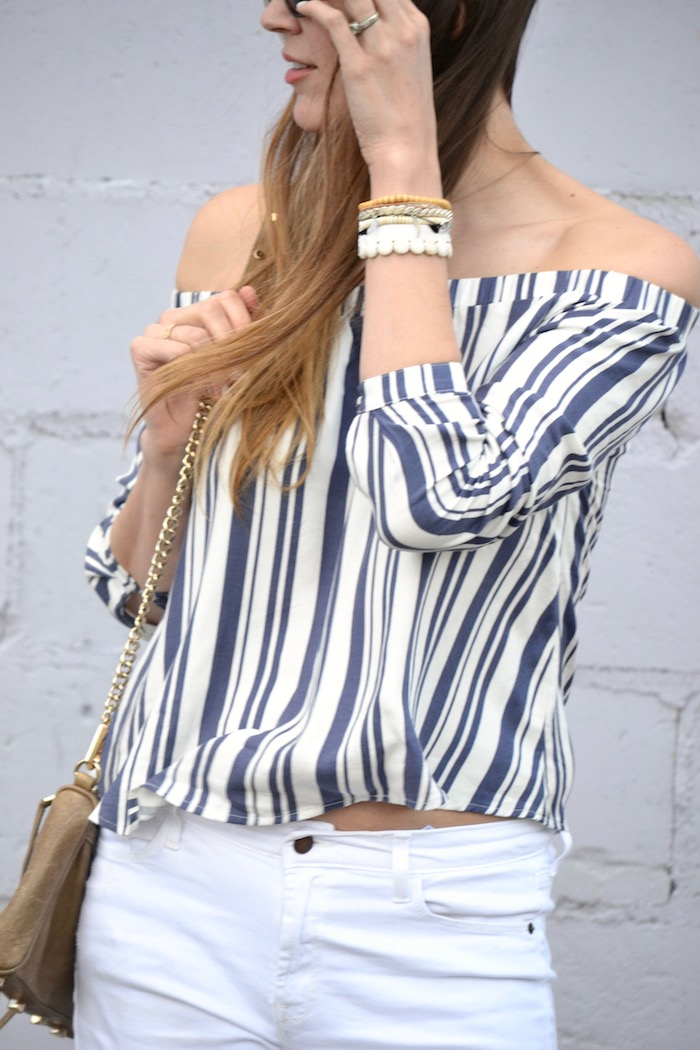 Off The Shoulder Stripes via thehiveblog.com