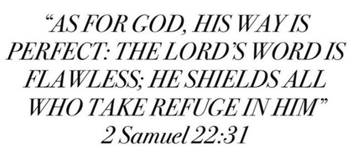 2 Samuel 22:31 :)