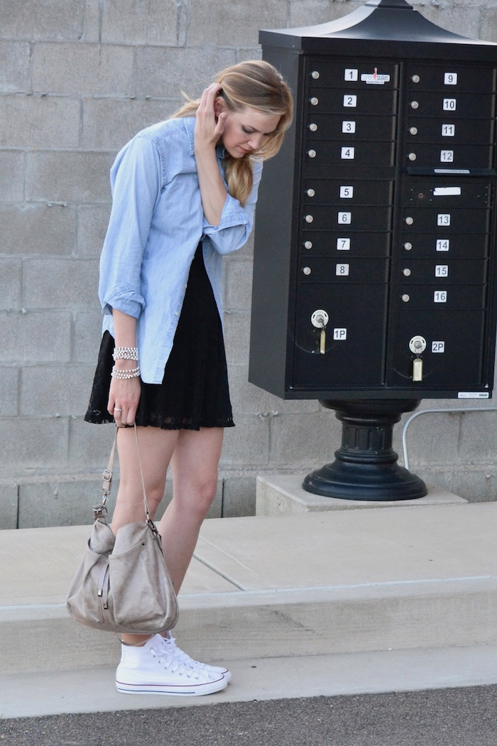 Super Casual LBD via thehiveblog.com