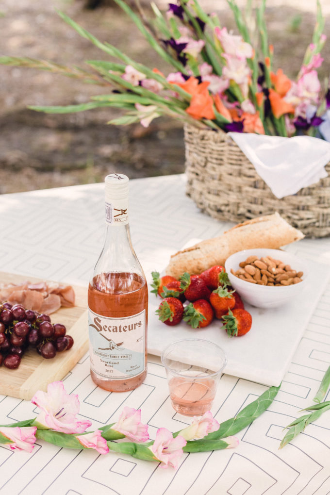 A Picnic styled around a beautiful bottle of South African Rosé // www.thehiveblog.com