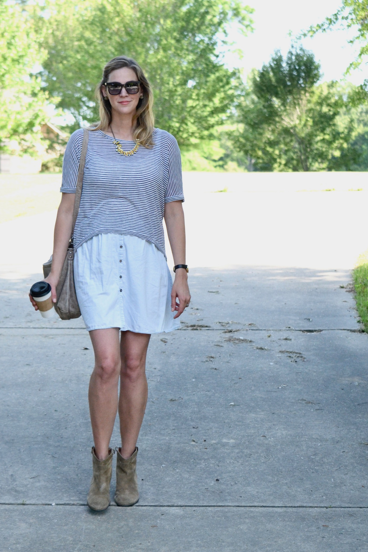 Layering while pregnant: How to dress in the first trimester // www.thehiveblog.com