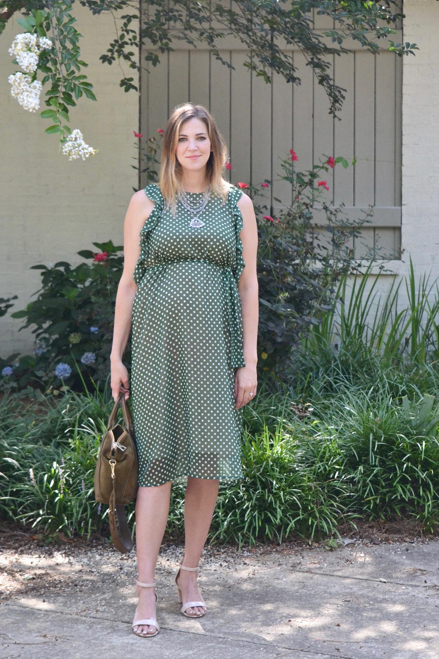 Polka Polka // second trimester maternity style // www.thehiveblog.com