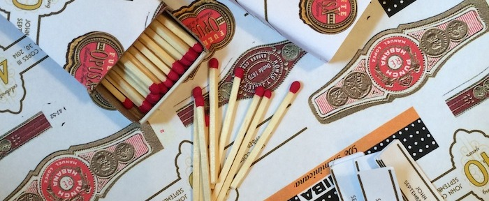 Custom Cigar Party Labels and Matchboxes // THE HIVE