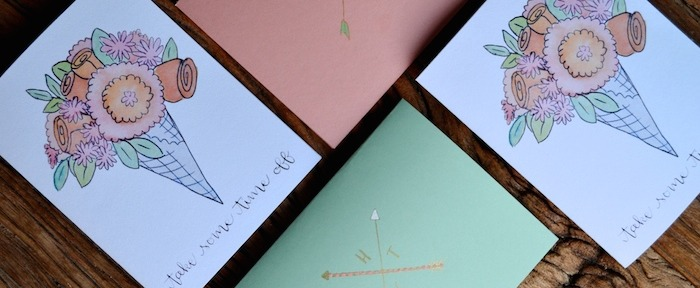 Floral, Mint, and Coral custom card collection // THE HIVE