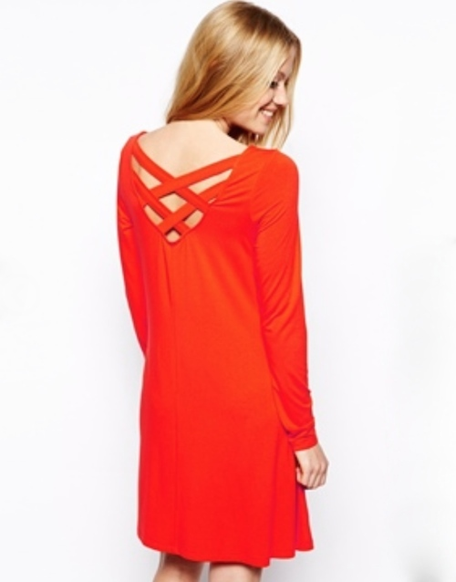 ASOS Maternity Exclusive Swing Dress With Cross Back