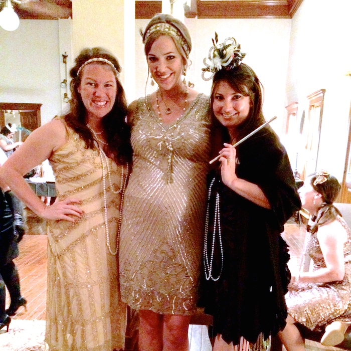 All dressed up for a 20's themed party // THE HIVE