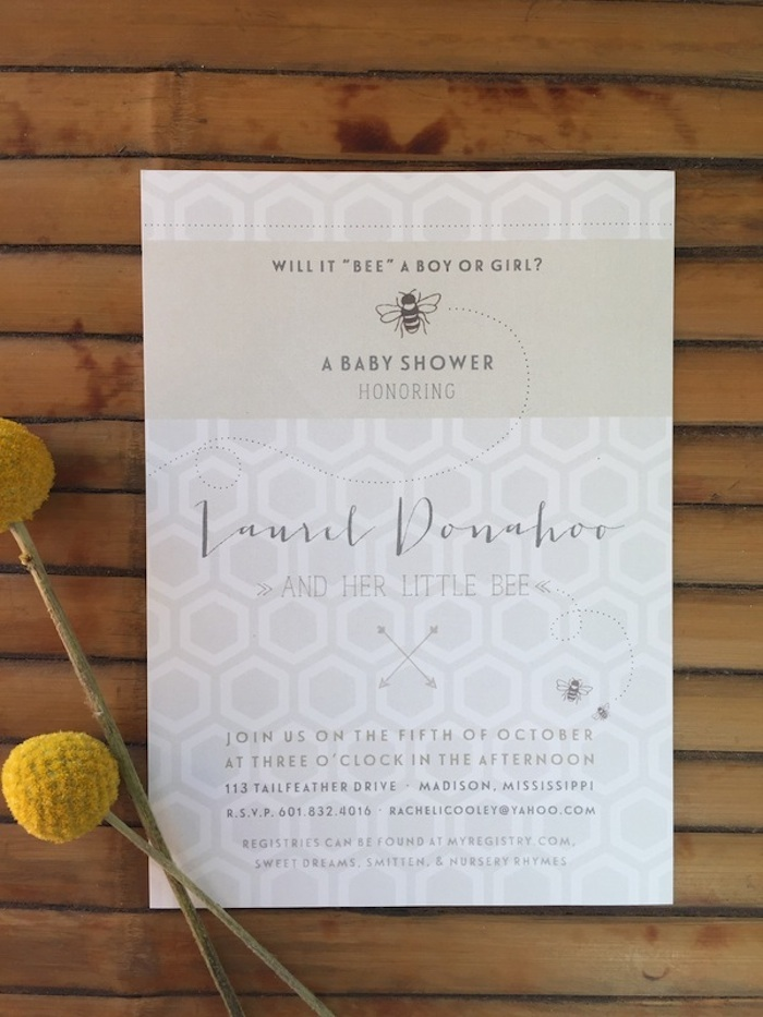 Bee-Themed Gender Neutral Baby Shower as featured on INSPIRATION MISSISSIPPI