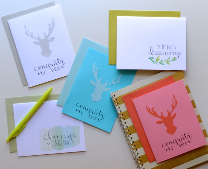 Congrats, My Deer cards | The Lovely Bee Paper Co.