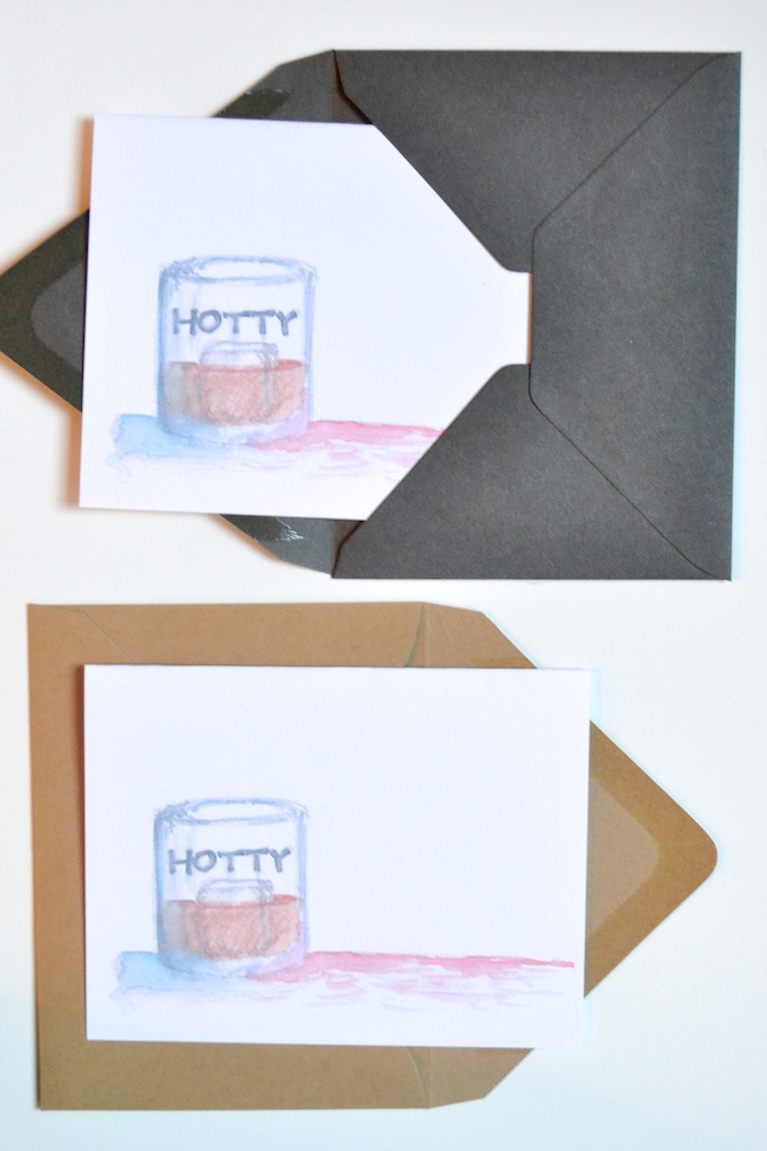 Hotty Toddy Card by The Lovely Bee // www.thehiveblog.com