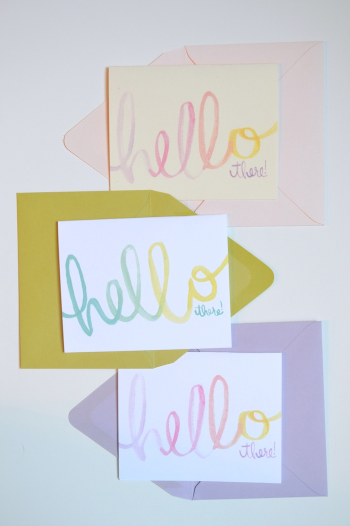 Hello There! cards by The Lovely Bee // www.thehiveblog.com