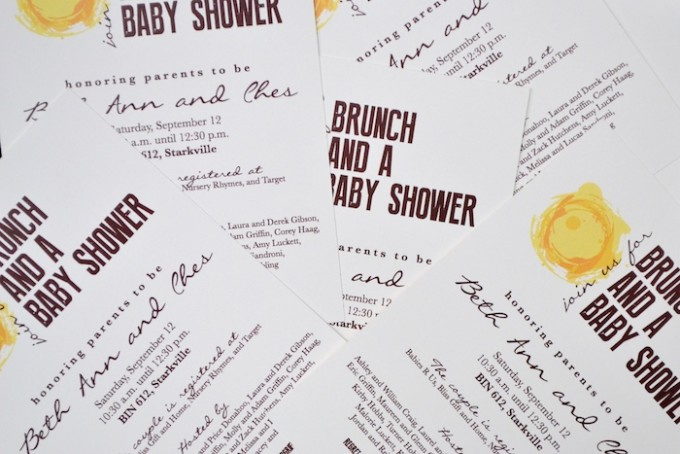 Brunch and a Baby Shower // Invitation by The Lovely Bee
