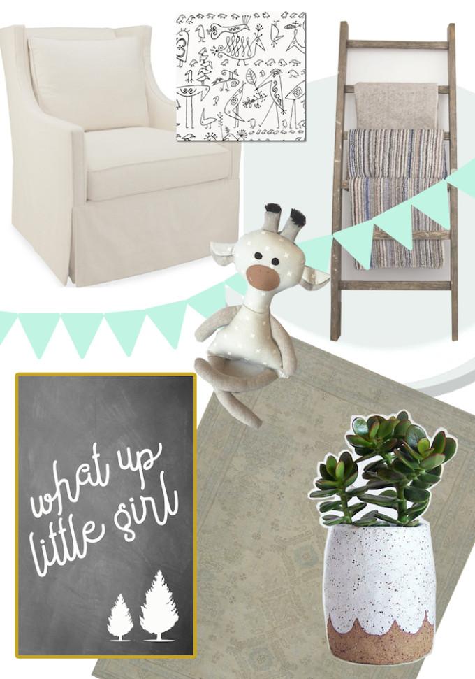 Nursery Mood Board // www.thehiveblog.com