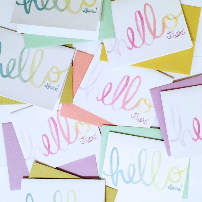 Original stationery designs by The Lovely Bee Paper Co. // www.thehiveblog.com