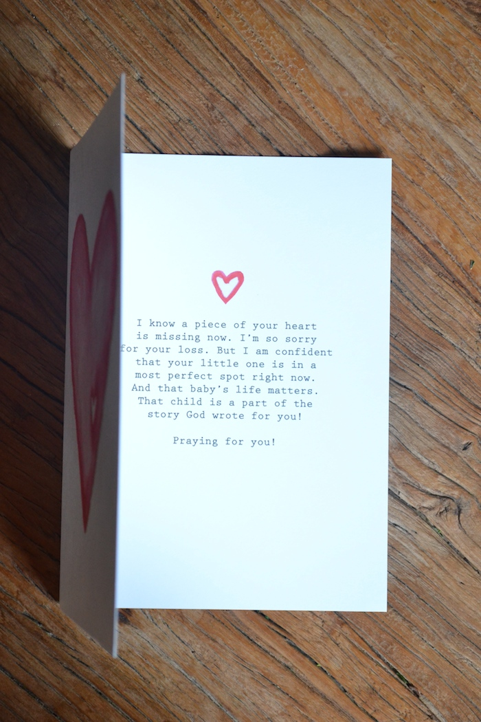 Missing Piece condolence card by The Lovely Bee // $1 from each card sale supports families expecting early child loss