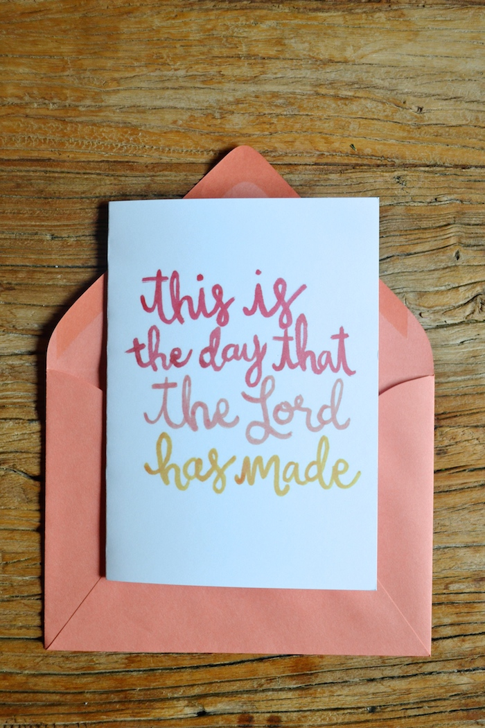 This Is The Day That The Lord Has Made card by The Lovely Bee // $1 from each card sale supports families expecting early child loss
