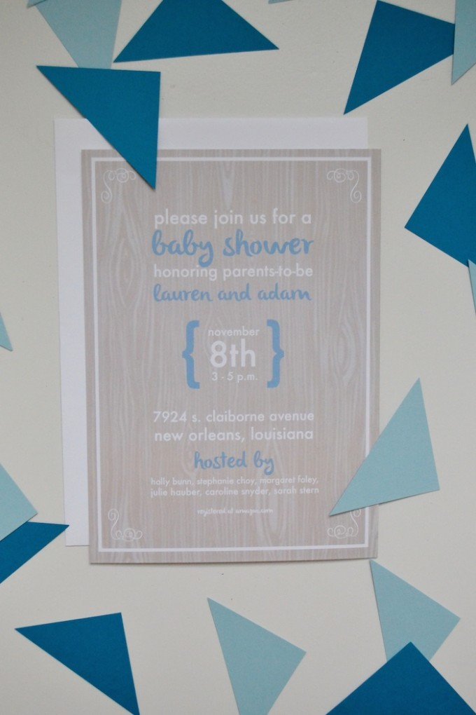Baby Shower Invitation by The Lovely Bee Paper Co. // www.thehiveblog.com