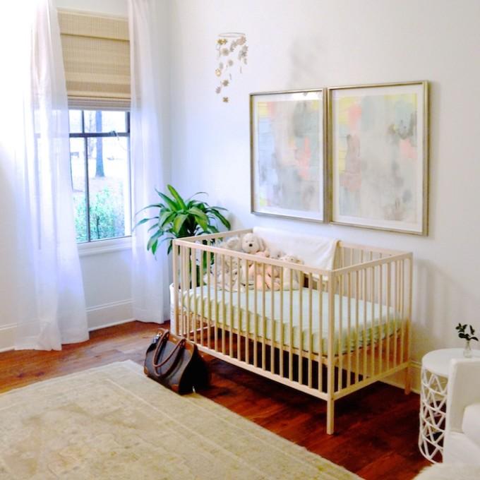 Baby girl's room // www.thehiveblog.com