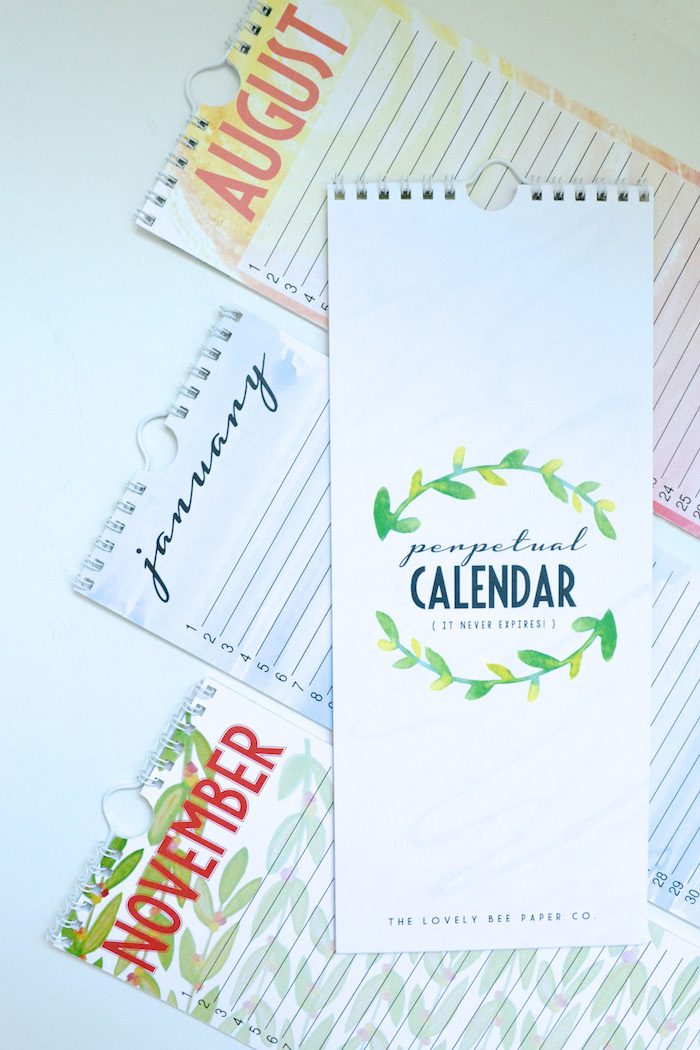 Perpetual Calendar by The Lovely Bee Paper Co. // www.thehiveblog.com