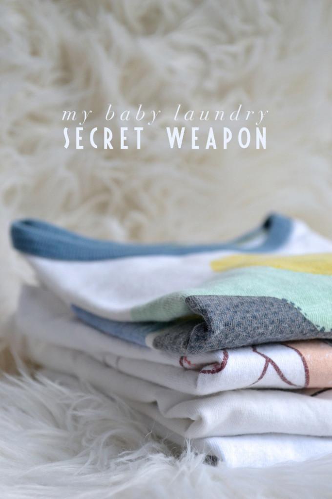 My baby laundry secret weapon... // www.thehiveblog.com