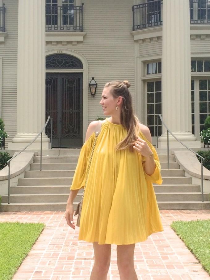 Yellow Dress // www.thehiveblog.com