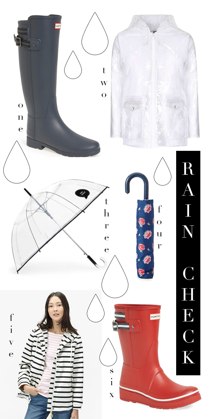 RAIN CHECK! rainy day essentials