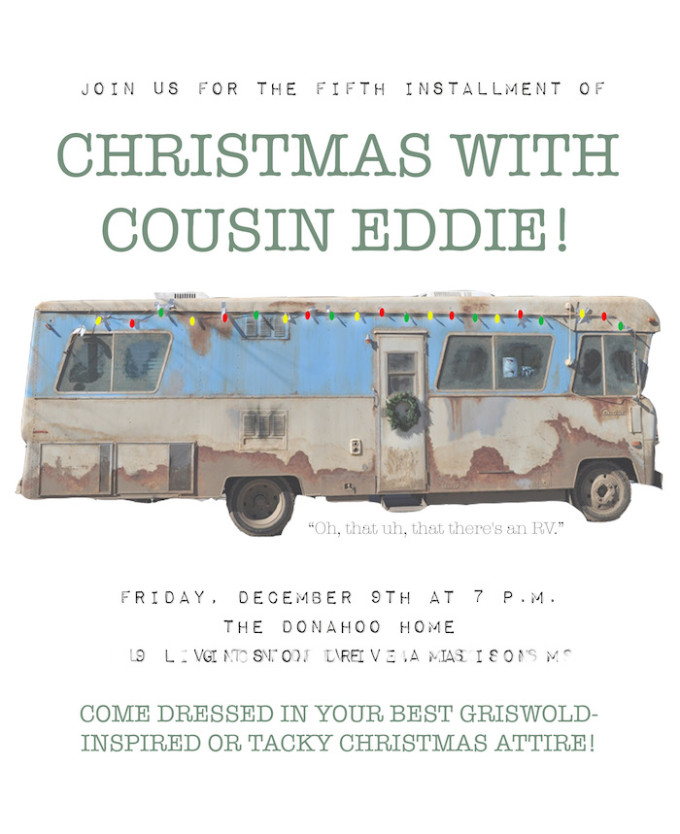 Christmas With Cousin Eddie // National Lampoon's Christmas Vacation inspired party