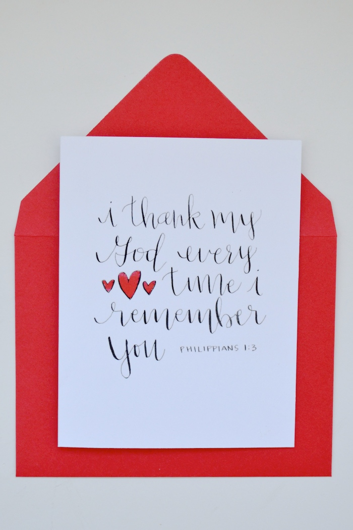 Thank God for YOU! // hand lettered by The Lovely Bee