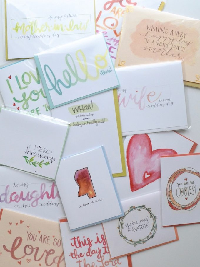Handmade cards by The Lovely Bee via thehiveblog.com