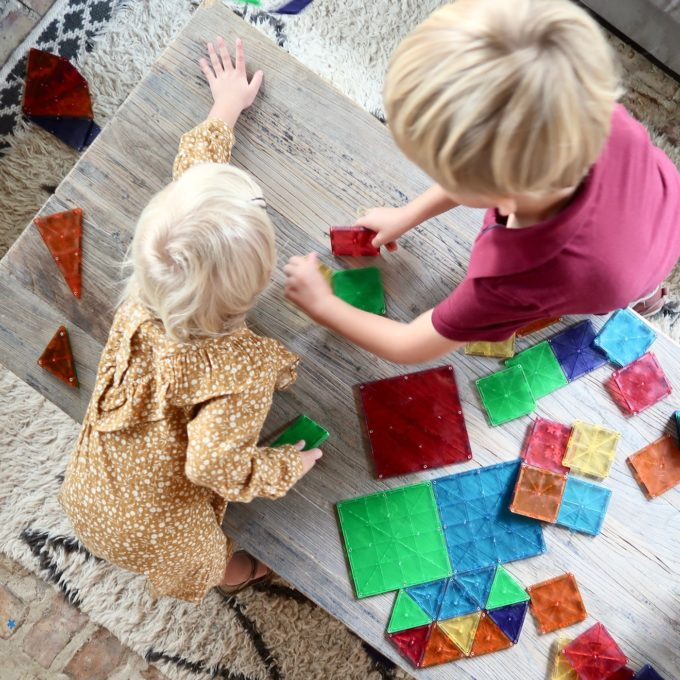 Magna-Tiles -- the perfect toddler / preschooler gift!
