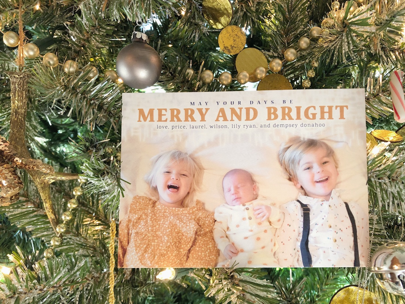 Merry and Bright and Slightly Insane // Taking Christmas Card Photos with Three Under Four