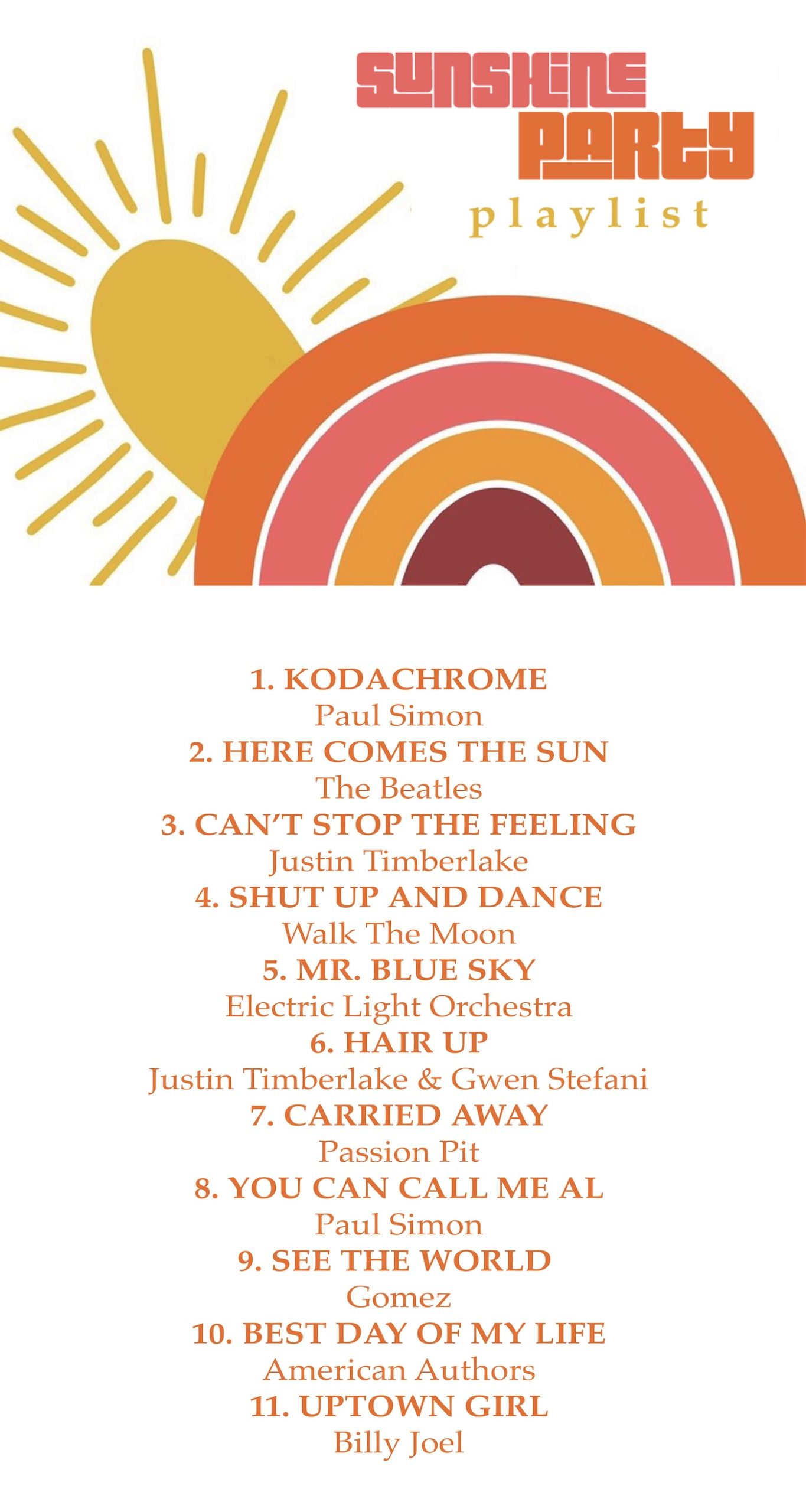 Sunshine Party Playlist