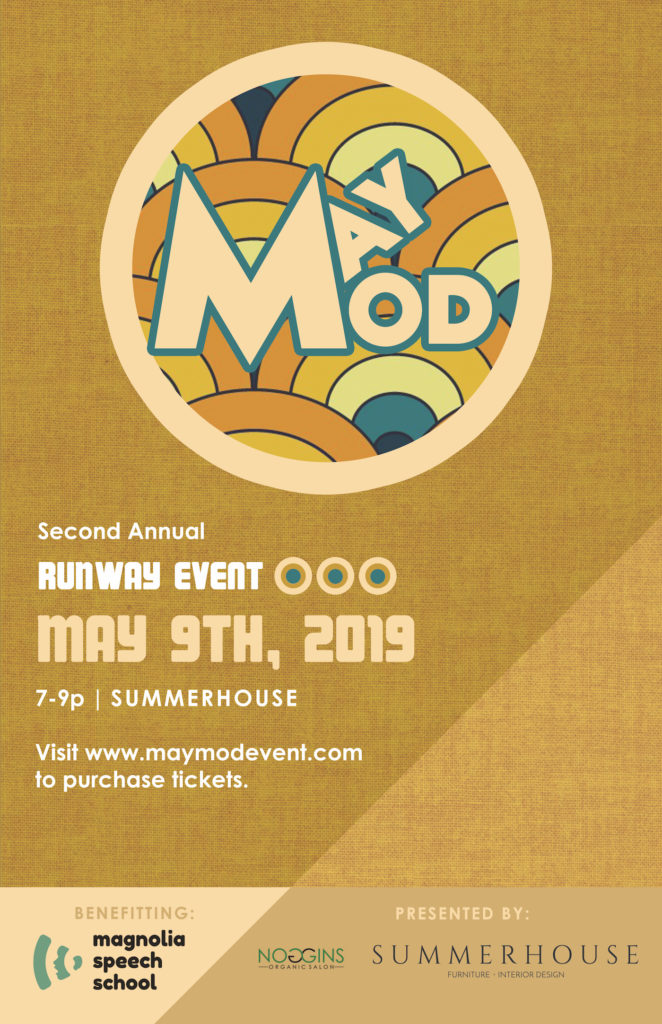 MAY MOD Runway Event at Summerhouse in Ridgeland Mississippi. A huge fashion show put on by the best of local, benefitting Magnolia Speech School