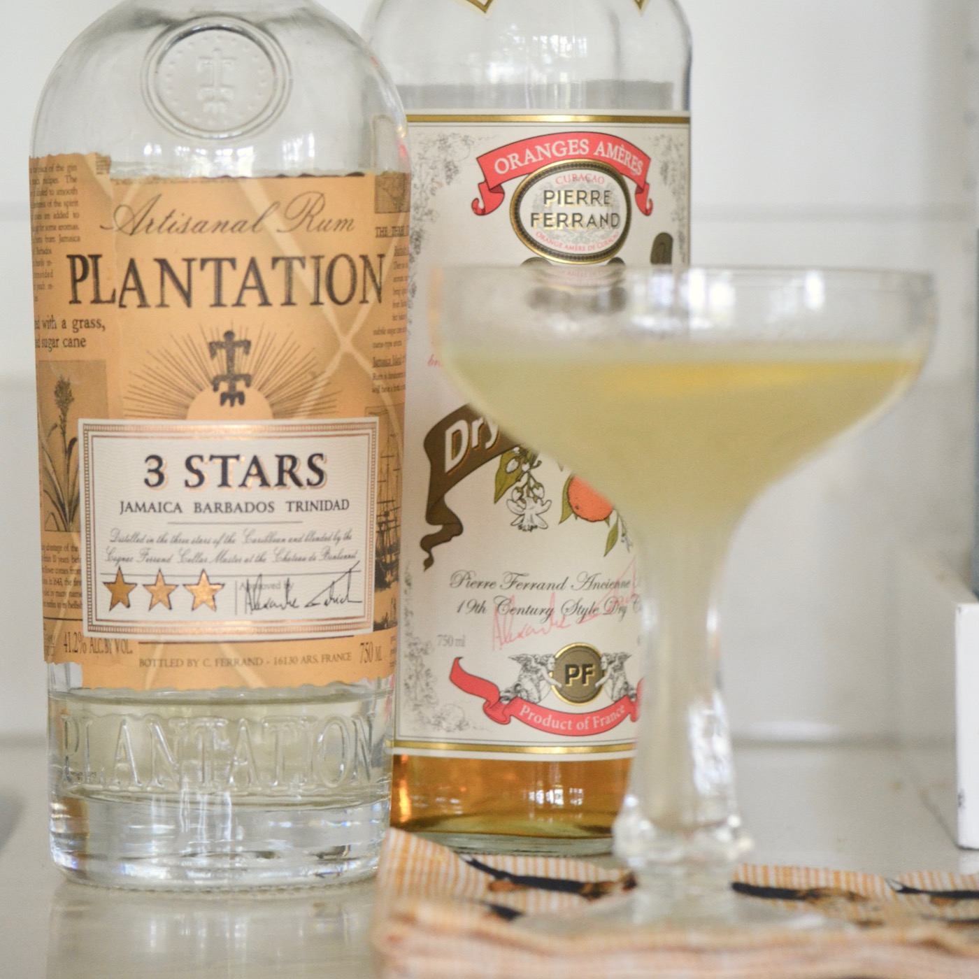 Plantation 3 Stars Rum, Dry Curacao, lemon juice, and soda water. The PERFECT summer cocktail