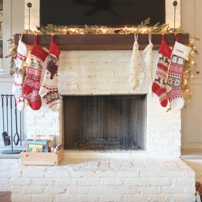 Stockings are hung by the chimney with care!