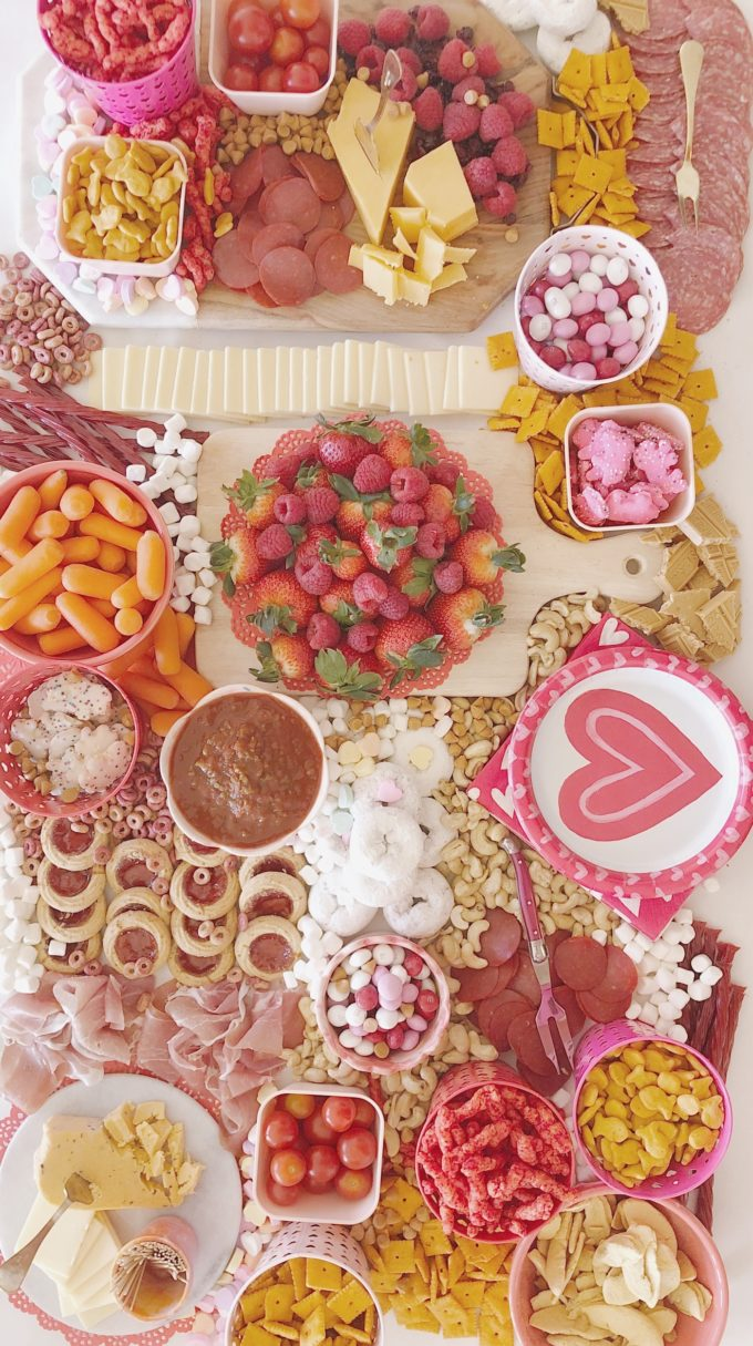 A Valentine's Day Charcuterie Table
