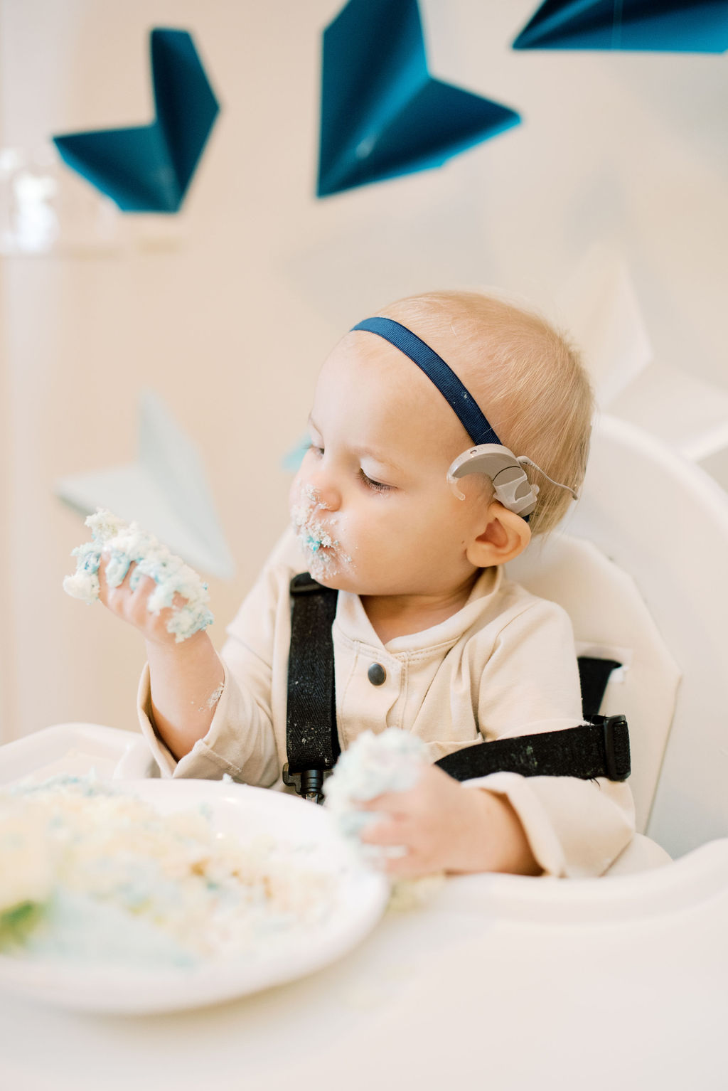 Time flies when you're turning ONE! // Airplane themed first birthday party