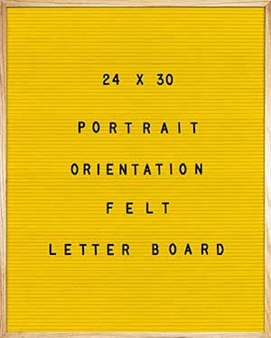 yellow felt letter board